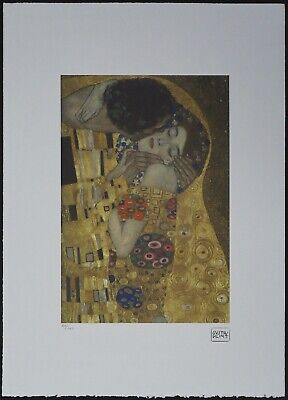 $ CDN178.51 • Buy Gustav Klimt 'The Kiss' 50 X 70 Cm Signed Limited Lithograph