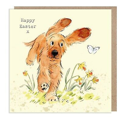 £3.15 • Buy Easter Card- Quality Greeting Card - Cocker Spaniel Illustration - Made In UK