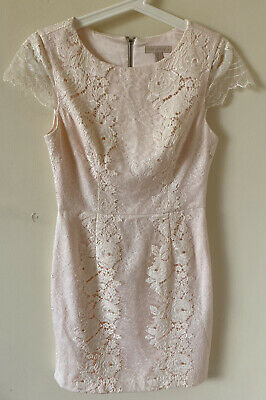 AU35 • Buy Forever New Womens Pink Lace Floral Dress AU 8