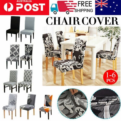 AU4.59 • Buy 4/6/8pcs Stretch Dining Chair Cover Seat Covers Washable Banquet Wedding Party