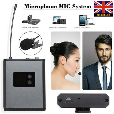 Wireless UHF Lavalier Lapel Microphone MIC System Headset Receiver Transmitter • 24.99£