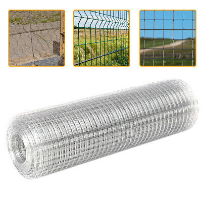 Chicken Welded Wire Mesh Galvanised Fencing Aviary Pet Fence Netting Roll Garden • 15.54£