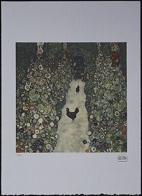 $ CDN146.55 • Buy Gustav Klimt 'Garden Path With Chickens' 50 X 70 Cm Signed Limited Lithograph