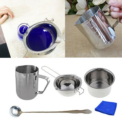 Stainless Spoon Wax Pour Melting Pot Melter 4Pcs/Set For Chocolate Cheese • 16.34£