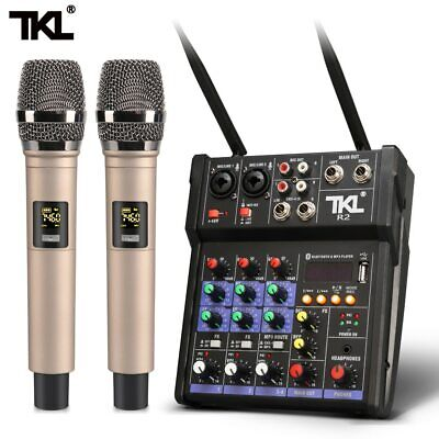 £82.83 • Buy TKL 4channel Dj Mixer Console With Wireless Microphone Sound With Bluetooth USB