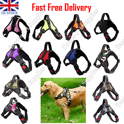 £8.99 • Buy No Pull Dog Pet Harness Strong Adjustable Reflective Padded Safety Puppy Vest