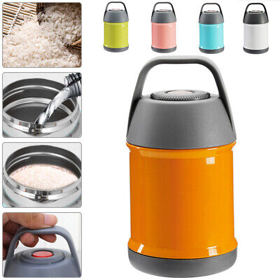 AU25.91 • Buy Thermos Hot Food Flask Lunch Vacuum Storage Warm Soup Heat For Travel Work 560ml