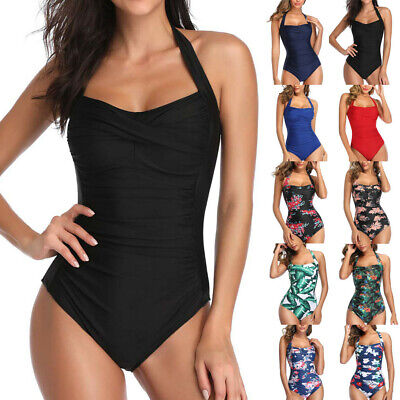 AU22.62 • Buy Women One Piece Push Up Padded Bikini Swimsuit Swimwear Bathing Monokini #AR