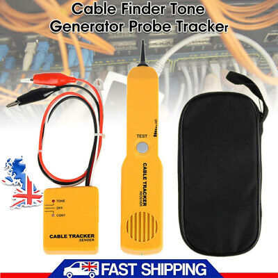 Cable Finder Tone Generator Probe Tracker Wire Network Tester Tracer Kit UK • 12.35£