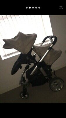 ICandy Apple 2 Pear Travel System Double Seat Stroller Pram Push Chair Twins • 120£