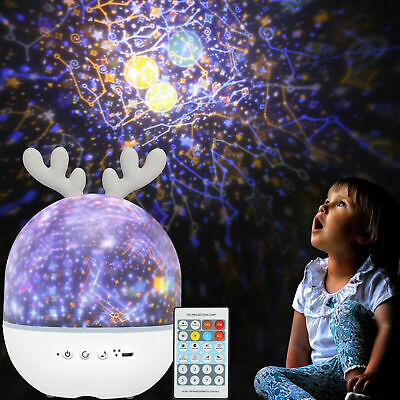 Night Light Projector With Music Star Light Projecter W/ Remote Control Kids Toy • 17.95£
