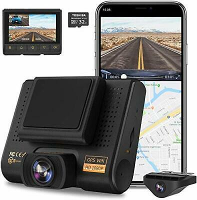 AU209.46 • Buy Dual Dash Cam, Full HD 1080P Car Camera Front And Rear For Cars, Dashboard