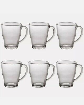 £9.99 • Buy 250 Ml Set Of 6 Duralex Cosy Glass Latte Coffee Mugs Cups For Tea ChaHot Drinks