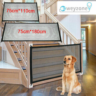 £7.89 • Buy Retractable Pet Dog Gate Safety Guard Folding Baby Toddler Stair Gate Isolation