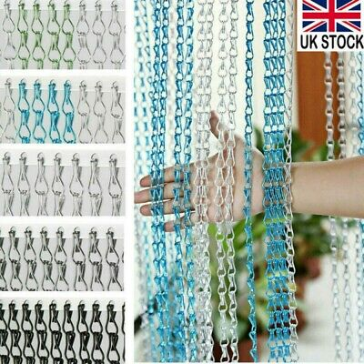 214x90CM Aluminum Door Metal Curtain Chain Fly Insect Blinds Screen Pest Control • 33.98£