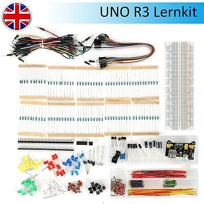 Electronics Starter Kit For Arduino UNO R3 Breadboard LED Jumper Wire Switch • 14.19£