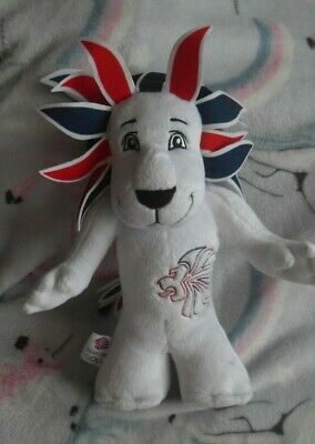 Official London 2012 Olympics Team GB Mascot Lion Soft Cuddly Toy 30 Cm (E) • 4.50£