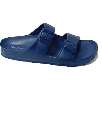 Skechers Women's Cali Breeze - Thunder Bolt - Two Band Slide Blue Size UK 6.5 • 14.99£