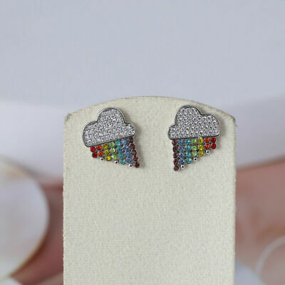 $ CDN25.05 • Buy Kate Spade Into The Sky Silver Multi Color Rainbow Stud Earrings