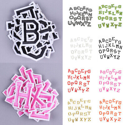 £3.49 • Buy 26 Alphabet English Patches 3D Letters Mixed Embroidered Iron On Sewing Parche S