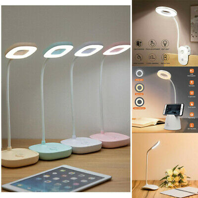 AU15.99 • Buy Touch Sensor Lights Dimmable USB LED Desk Table Bedside Reading Bedroom Lamp
