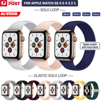 AU9.99 • Buy For Apple Watch Band Series SE 6 5 4 3 2 Solo Loop Silicone Elastic IWatch Strap