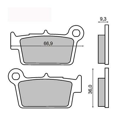 $48.08 • Buy Rear Brake Pads Yamaha YZ 125 2003 2004 2005 2006 2007 RMS 225101450