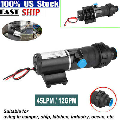 $70.38 • Buy RV Discharge Mount Macerator 12V Waste Water Pump 45LPM/12GPM For RV Marine Boat