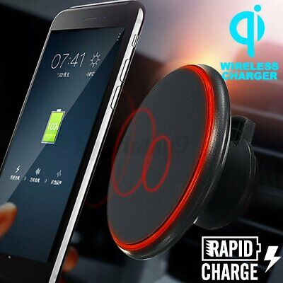 AU19.99 • Buy Qi Wireless Car Charger Magnetic Air Vent Mount Holder For IPhone Samsung HUAWEI