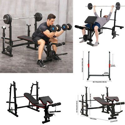 $ CDN173.80 • Buy ADJUSTABLE LIFTING WEIGHT BENCH With Squat Rack Leg Developer Curl PAD Home Gym