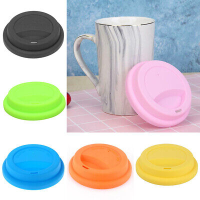 £1.69 • Buy Silicone Tea Cup Coffee Mug Lid Covers Anti-Dust Suction Glass Drinking Caps 1PC