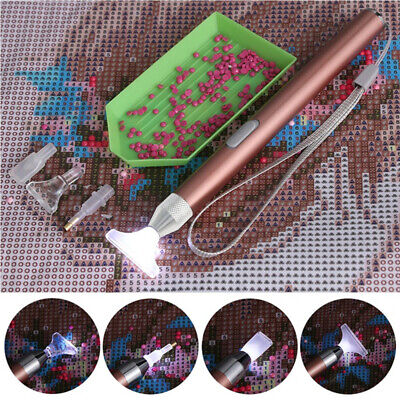AU10.69 • Buy 5D Diamond Painting Pen Tools W/ 5 Head LED Light Point Drill Accessories