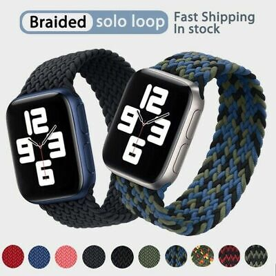 AU12.99 • Buy Braided Solo Loop Elastic IWatch Band Strap For Apple Watch SE Series 6 5 4 3 21