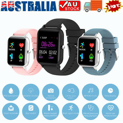 AU23.08 • Buy Bluetooth Smart Watch Heart Rate Blood Pressure IP67 Waterproof For IOS Android