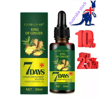 AU12.95 • Buy Regrowth 7Day Ginger Germinal Hair Growth Serum Hairdressing Oil Loss Treatment