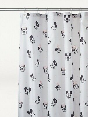 £16.95 • Buy Disney Mickey And Minnie Mouse Print Waterproof Shower Curtain New