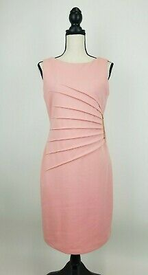 $ CDN30.30 • Buy Ivanka Trump Sheath Dress Womens 8 Pink Gold Zipper Sleeveless NWT B34-07