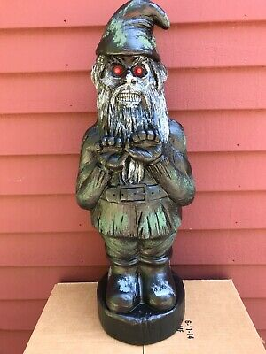 $ CDN28.75 • Buy Blow Mold Scary  Halloween Zombie Gnome Red Eyes Union Products