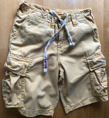 True Religion Size 28 Cargo Shorts Beige • 15£