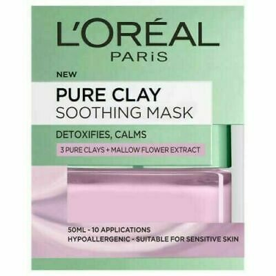 L'Oreal Paris Pure Clay Soothing Anti-Redness Face Mask 50ml Same Day Dispatch • 8.99£