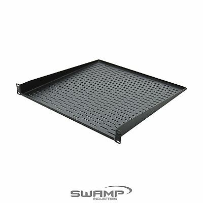 SWAMP 1U 19  Rack Mountable Tray Shelf Cantilever With Slotted Holes Extra Depth • 16.72£