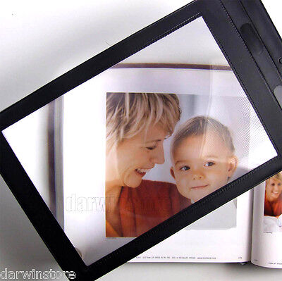 £3.15 • Buy A4 Full Page Magnifier Sheet LARGE Magnifying Glass Reading Aid Lens 3X Big