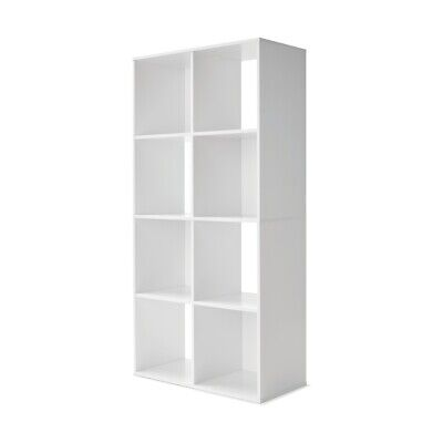 AU113.98 • Buy New 2 X 8 Cube Unit Storage Shelf Display Cupboard Bookshelf Cabinet - White