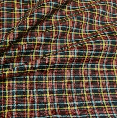 £3.99 • Buy Checked Polycotton Fabric - Sold By The Metre