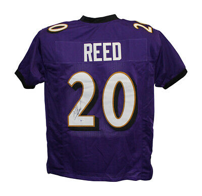 $ CDN250.63 • Buy Ed Reed Autographed/Signed Pro Style Purple XL Jersey BAS 30497