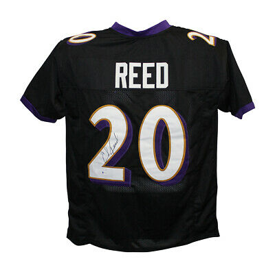 $ CDN250.63 • Buy Ed Reed Autographed/Signed Pro Style Black XL Jersey BAS 30498