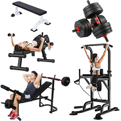 Adjustable Weight Bench Training Multi Gym Fitness Exercise Lifting Dumbbell Abs • 75.99£