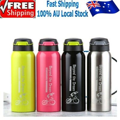 AU14.89 • Buy Vacuum Insulated Double Stainless Steel Water Bottle Thermos Drink Cup Mug 500ml