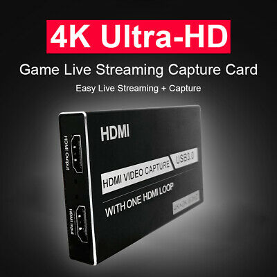4K 60Hz Video Capture Card HDMI USB 3.0 Video Grabber Record Box Loop Out • 22.39£