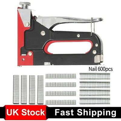 £9.98 • Buy Heavy Duty 3in 1 Staple & Nail Gun 600 X Staples & Nails Included Cable Tacker